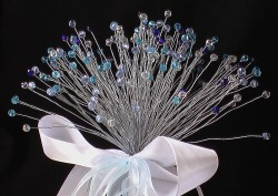 Blue and Silver Crystal Bouquet