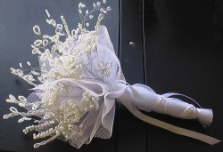 White and Silver Wedding Bouquet